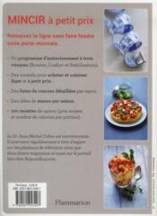100 recettes pour mincir à petit prix - 4ème de couverture - Format classique