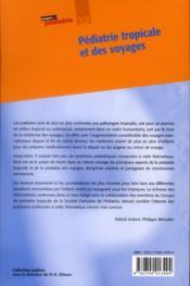 Pediatrie tropicale et des voyages - n 32 - 4ème de couverture - Format classique