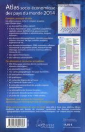 Atlas socio-économique des pays du monde (édition 2014) - 4ème de couverture - Format classique