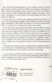 La faveur du roi ; mignons et sourtisans au temps des derniers Valois (vers 1547-vers 1589) - 4ème de couverture - Format classique