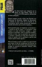 Requiem pour le juge - 4ème de couverture - Format classique