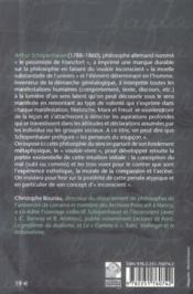 Schopenhauer - 4ème de couverture - Format classique
