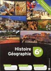 Histoire-géographie ; 6ème - Couverture - Format classique