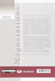 Revue négociations N.20 - 4ème de couverture - Format classique