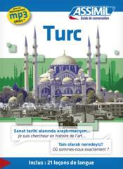 GUIDES DE CONVERSATION ; turc - Couverture - Format classique