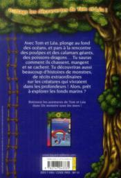 Les carnets de la cabane magique T.16 ; les monstres marins - 4ème de couverture - Format classique