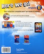 HERE WE GO ! ; anglais ; 6ème ; workbook (édition 2014) - 4ème de couverture - Format classique