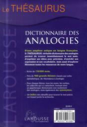 Le Thesaurus ; dictionnaire des analogies - 4ème de couverture - Format classique