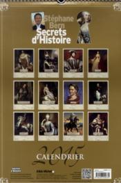 Secrets d'histoire ; calendrier géant luxe 2015 - 4ème de couverture - Format classique