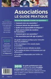 Associations le guide pratique 2015 - 4ème de couverture - Format classique