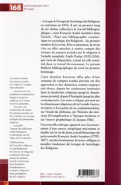 Archives de sciences sociales des religions N.168 - 4ème de couverture - Format classique