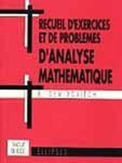 Recueil D'Exercices Et De Problemes D'Analyse Mathematique Traduit Du Russe - Couverture - Format classique