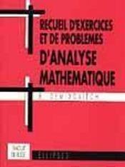 Recueil D'Exercices Et De Problemes D'Analyse Mathematique Traduit Du Russe - Intérieur - Format classique