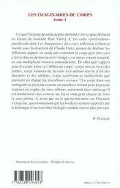 Les Imaginaires Du Corps T.1 ; Litterature Pour Une Approche Interdisciplinaire Du Corps - 4ème de couverture - Format classique