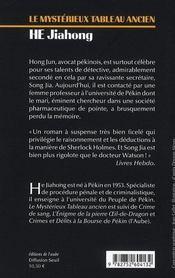 Mysterieux Tableau Ancien (Le) - 4ème de couverture - Format classique