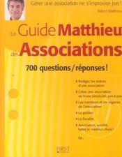 Le guide matthieu des associations - Intérieur - Format classique