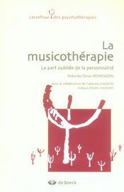 La musicothérapie ; la part oubliée de la personnalité - Intérieur - Format classique