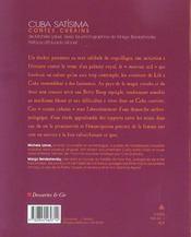 Cuba satisima ; contes cubains - 4ème de couverture - Format classique