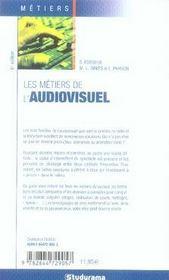 Les métiers de l'audiovisuel (6e édition) - 4ème de couverture - Format classique