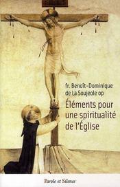 Éléments pour une spiritualité de l'église - Intérieur - Format classique