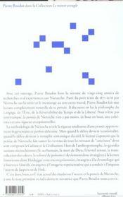 Nietzsche ; la momie et le musicien - 4ème de couverture - Format classique
