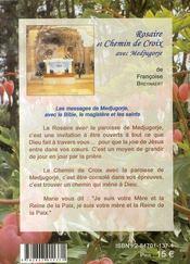 Rosaire Et Chemin De Croix Avec Medjugorje ; Un Choix De Messages Avec La Bible, Le Magistere Et Les Saints - 4ème de couverture - Format classique