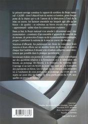 Resultats et recommendations du projet national calibe maitrise qualitebetons - 4ème de couverture - Format classique