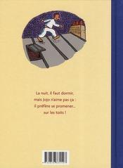 Jojo oiseau de nuit - 4ème de couverture - Format classique