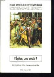 Communio t.16-2 ; 1991 - Couverture - Format classique