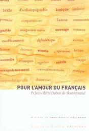 Pour l'amour du francais - Intérieur - Format classique