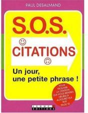 S.O.S citations ; un jour, une citation - Couverture - Format classique