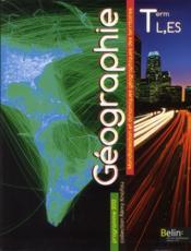 Géographie ; terminale L, ES ; manuel de l'élève - Couverture - Format classique