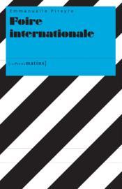 Foire internationale - Couverture - Format classique