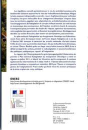 L'adaptation de la France au changement climatique - 4ème de couverture - Format classique