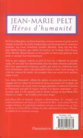 Héros d'humanité - 4ème de couverture - Format classique