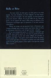 Belle et bête - 4ème de couverture - Format classique