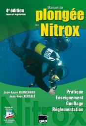 Manuel de plongée au nitrox (4e édition) - Couverture - Format classique