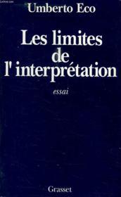 Les limites de l'interprétation - Couverture - Format classique