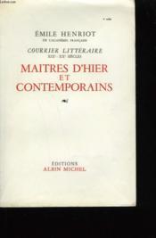 Maitres D'Hier Et Contemporains. - Couverture - Format classique