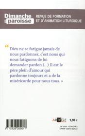 Dimanche En Paroisse N.1 ; Découvrir Le Pape François - 4ème de couverture - Format classique