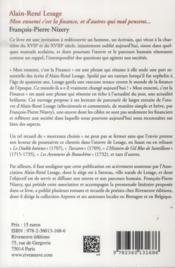 Alain-René Lesage - 4ème de couverture - Format classique