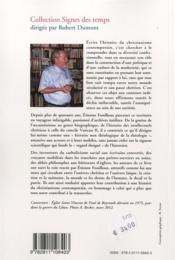 Ecrire l'histoire du christianisme contemporain. autour de l'oeuvre d'etienne fouilloux - 4ème de couverture - Format classique
