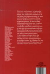 La défense, a dictionary ; architecture / politics, history / territory - 4ème de couverture - Format classique
