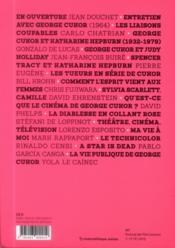 George Cukor ; on/off Hollywood - 4ème de couverture - Format classique