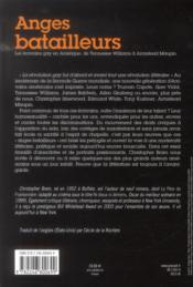 Anges batailleurs ; les écrivains gay en Amérique, de Tennessee Williams à Armistead Maupin - 4ème de couverture - Format classique