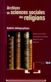 Archives de sciences sociales des religions N.164 - Couverture - Format classique