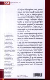 Archives de sciences sociales des religions N.164 - 4ème de couverture - Format classique