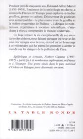 Edouard-Alfred Martel ; explorateur du monde souterrain - 4ème de couverture - Format classique