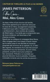 Moi, Alex Cross - 4ème de couverture - Format classique