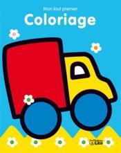 Mon tout premier coloriage ; le camion - Couverture - Format classique